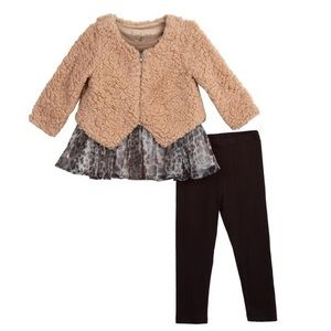 Pippa and Julie Kailee Sherpa Cardigan Set 2T